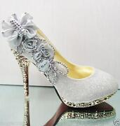 Flower Shoes High Heel