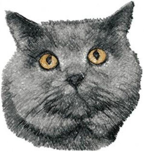 Embroidered Ladies Fleece Jacket - British Shorthair Cat AED16247 Sizes S - XXL