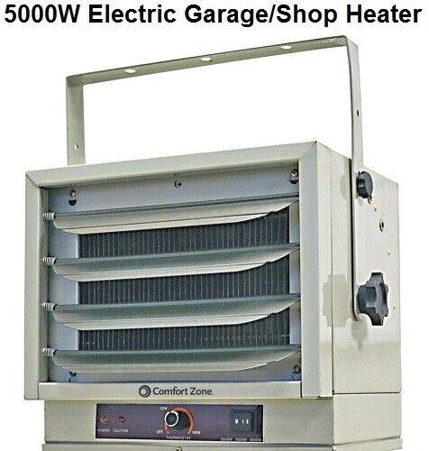 00Comfort Zone Heater Garage Shop Utility Industrial Use 5000W 17000BTU 208/240V