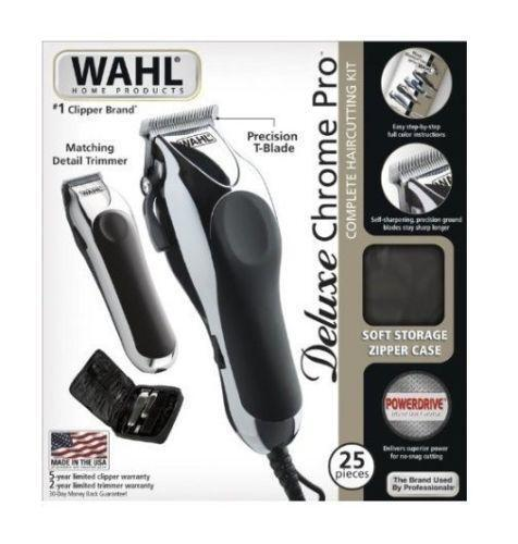 wahl chrome pro complete haircutting kit wahl deluxe chrome pro ebay 5119