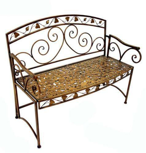 Metal garden bench ebay Garden benches metal