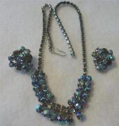 Vintage AB Rhinestone Necklace
