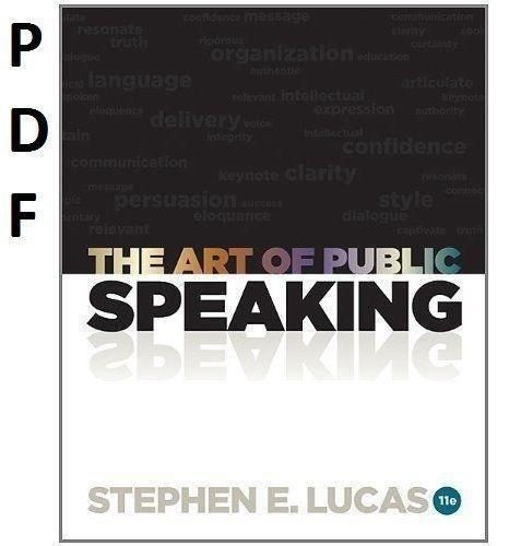 The art of public speaking 11th edition ebay fandeluxe Choice Image