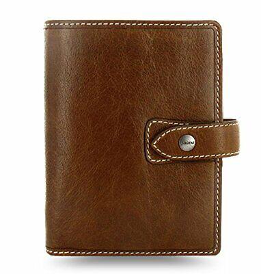 Filofax Malden Pocket Ochre Leather Pocket Organizer Planner Agenda Calendar