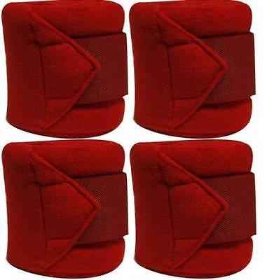 Set Of 4 RED Fleece Polo/Leg Wraps ! NEW HORSE TACK!