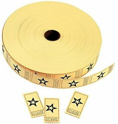 Qty 2 - Yellow Star Single Roll Numbered Tickets (2000 tickets/roll) Fun Express](Yellow Star)