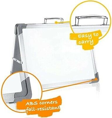 Magnetic Dry Erase White Board 16 X 12 Portable Foldable Magnetic Double-sided