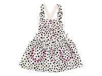 BNWT H&M Girls Dalmatian Polka Dot White & Pink Braced Dress 2-3 Years