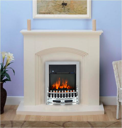 Modern Remote Control Inset Electric Fire Surround Set