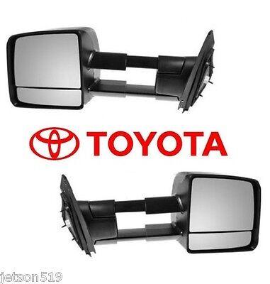 2007-2017 TOYOTA TUNDRA TOW MIRROR SET Towing Mirrors  OEM  OE
