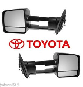 2007-2017 TOYOTA TUNDRA TOW MIRROR SET Towing Mirrors  OEM  OE