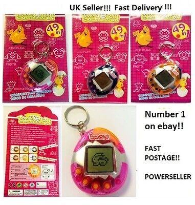 Virtual Pet / Like Tamagotchi / 49 In 1 Cyber Pet Toy / Retro / Blue Pink Orange