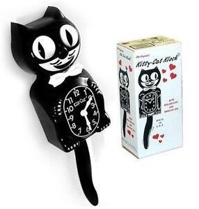 cat clock ebay. Black Bedroom Furniture Sets. Home Design Ideas
