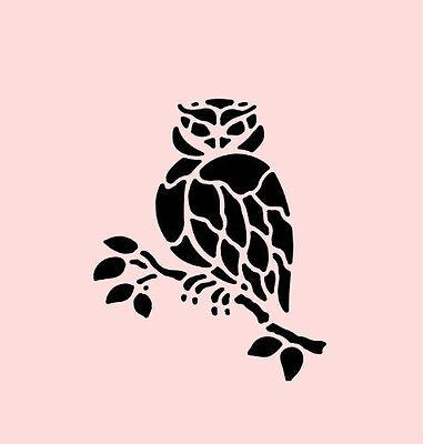 """5"""" OWL STENCIL BIRD TEMPLATE HOOTIE BIRDS PAINT TREE CRAFT ART NEW BY STENSOURCE"""