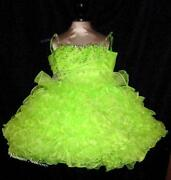 Lime Green Pageant Dress