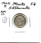 Straits Settlements 10 Cents