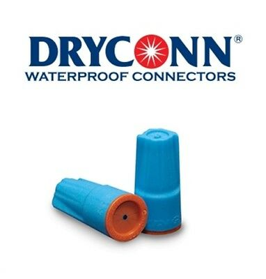 DryConn 62146 150 Pack Aqua/Orange Waterproof Connector Silicone King Innovation