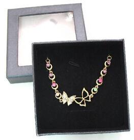 Gold coloured butterfly bracelet GIFT BOXED - JTY355