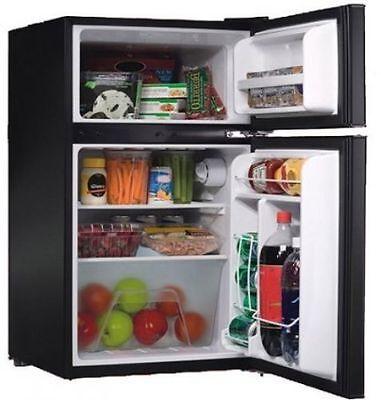 Compact Refrigerator Fridge Freezer Mini 3.2cu.ft. 2-Door Reversible Dorm Office