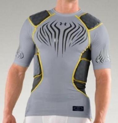 UNDER ARMOUR Compression Fit Football Shirt 1217710 Mens sz XXL NEW Gray
