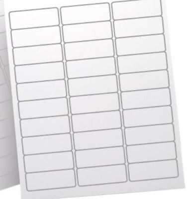 3000 Blank Labels Address Labels. Size 2-58 X 1 2.625 X 1 Ink And Laser