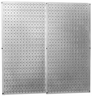 Metal Peg Board Galvanized Steel Tools Holder Garage Rack Organizer Wall