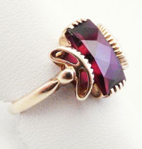 Antique Gold Garnet Ring Ebay