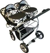 Double Buggy with Car Seat