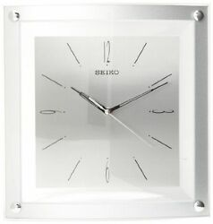 New Seiko Wall Clock Quiet Sweep Second Hand Clock Silver-Tone Metallic Case