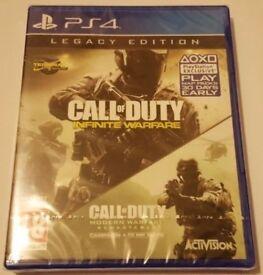 COD Call of Duty Modern Warfare Remaster & Infinite Warfare PS4 Brand New Sealed collect Stockport