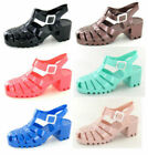 Block Heel Sandals for Women with Jelly