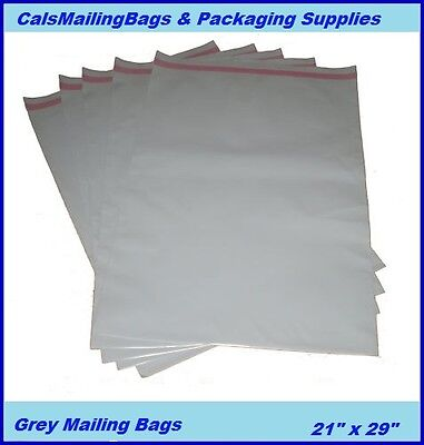 GREY POSTAL POST MAIL MAILING BAGS 25 x   21