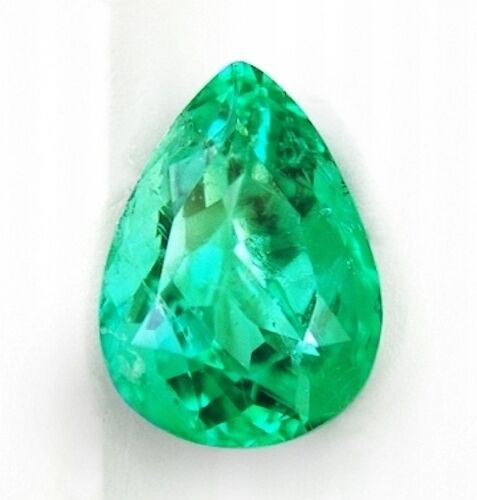 Lab Created Hydrothermal Colombian Emerald Green Pear Loose Stone(4x3mm-16x12mm)