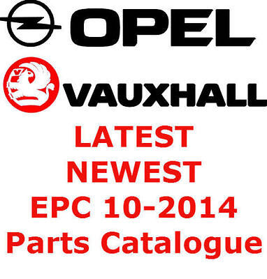* NEWEST - 10/2014 December * VAUXALL OPEL EPC Parts Catalogue Teilekatalog