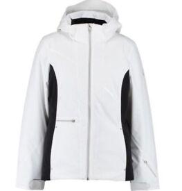 Women's Spyder Ski Jacket US size 10 UK White and black detail