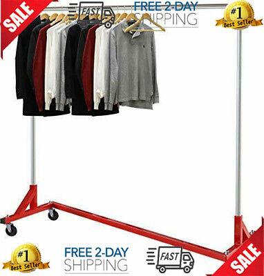 Simple Houseware Commercial Z Base Garment Rack Red