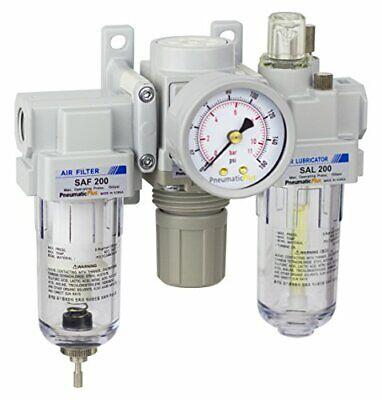 Pneumaticplus Air Filter Regulator Lubricator Combo 14 Npt250 Psi Sau200-n02g