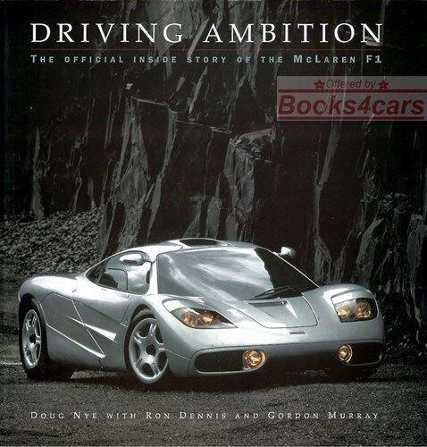 mclaren f1 book nye driving ambition | ebay