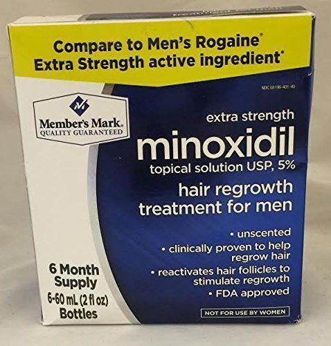 Member's Mark 6 Months Minoxidil 5% Extra Strength Men Hair Regrowth Treatment