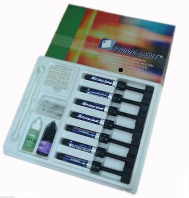 Prime-dent Light Cure Hybrid Dental Resin Composite 7 Syringe Kit 001-010