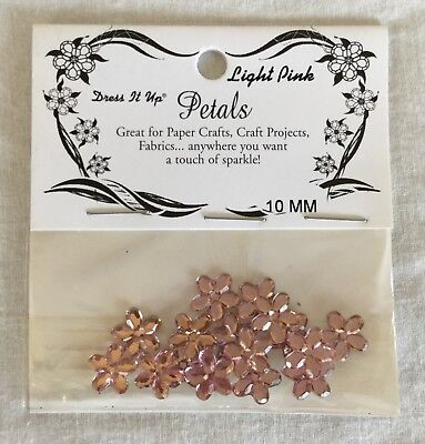NEW Jesse James Co. Dress It Up Petals 10 mm Flowers - Light Pink - 16 Pieces