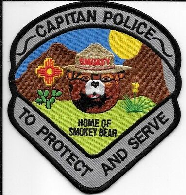 CAPITAN NEW MEXICO POLICE DEPT CPD NM HOIME OF SMOKEY BEAR MTNS SUN STATE