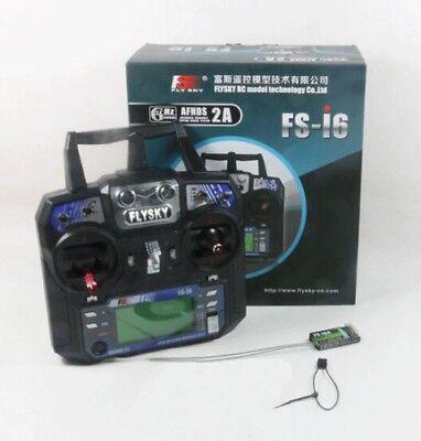 Flysky FS-i6 6CH 2.4GHz RC Radio System Transmitter W/ FS-iA6 Receiver Mode 2