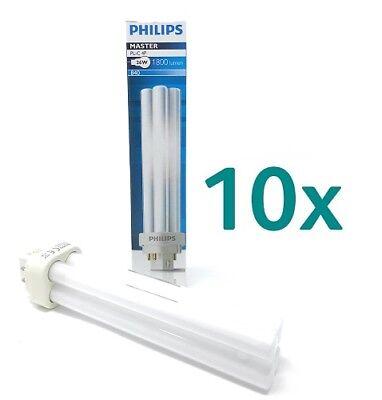 Leuchtmittel 3 Sockel G24q (10 x Philips PL-C 26W Energiesparlampe Warmweiß 4000K 2PIN G24Q-3 Sockel )