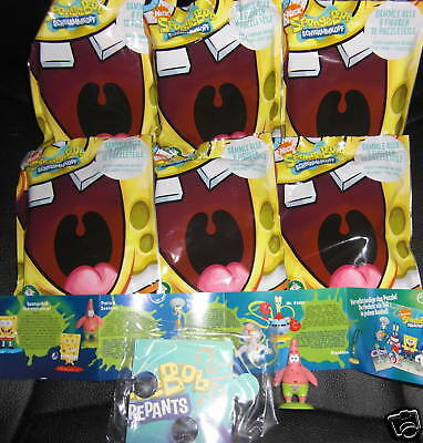 6 Tüten Flowpack/Spongebob Schwammkopf/Figuren +Puzzle