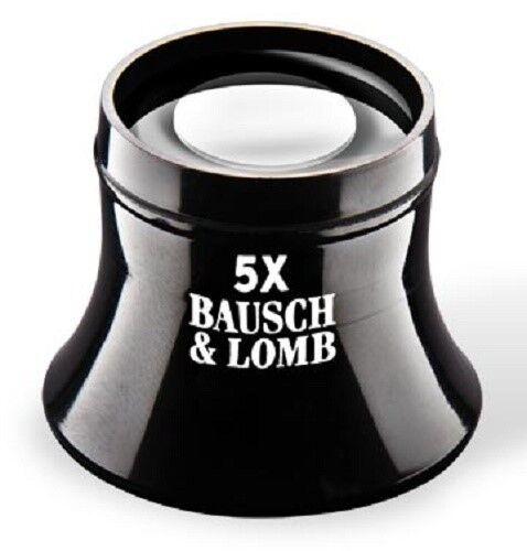 Bausch & Lomb New Precision Watchmaker Loupe 5X Lightweight Glass Lens Magnifier