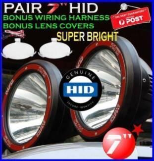 "2 x 7"" HID Xenon Driving Spot Lights Truck 4x4 Off Road Work NEW"