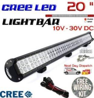 "20"" 126W CREE LED LIGHT BAR FLOOD SPOT COMBO BRAND NEW!"