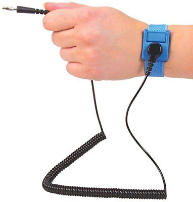 Scs Formerly 3m - Anti-static Grounding Strap Wrist Band W 6ft Coil Cord Blue
