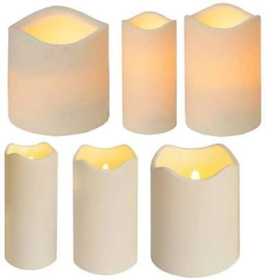 Farbwechsel LED Weihnachtskerze LED Kerze Kunststoffkerze flammenlos flackernd